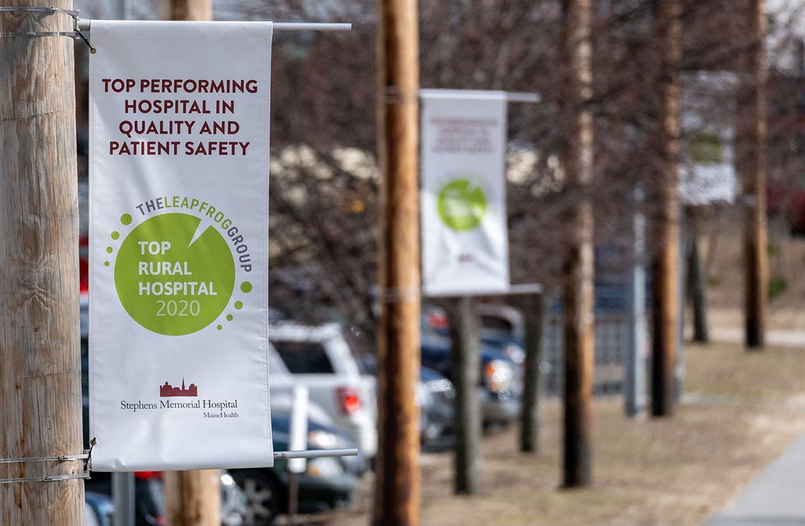 Leapfrog top rural hospital banners